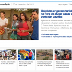 The sliding used to show last news at globo.com