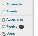 Agenda in admin menu