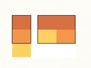 demonstração da aplicação em um diagrama de layout do mobile first