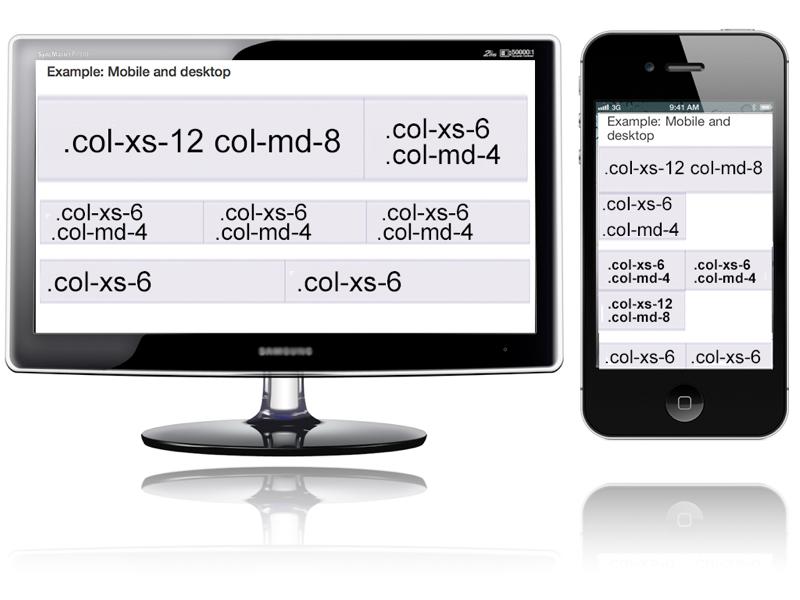 Uma visão de como utilizar o Framework Bootstrap de Grid para entender as diferentes visualizações no desktop e celular